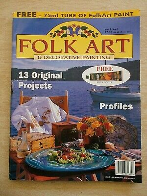 Folk Art & Decorative Painting Vol 2 #3~Galahs~Canisters~Iris~Dolphin~Pen & Wash