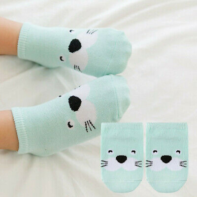 Baby Infant Socks Newborn Cotton Boys Girls Cartoon Toddler Anti-slip Socks