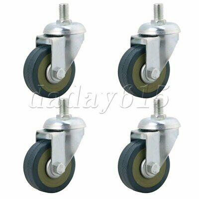 4Pcs Iron Safety Casters Wheels L9xW5cm for Cabinet Display Shelves Light Blue