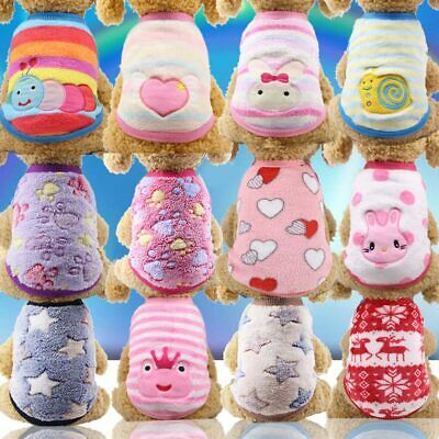 Winter Warm Soft Velvet Pet Puppy Cat Coat Dog Clothes for Small Dogs Chihuahua