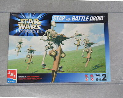 Rare Maquette AMT Star Wars Episode 1 - Stap with Battle Droid - (1999)