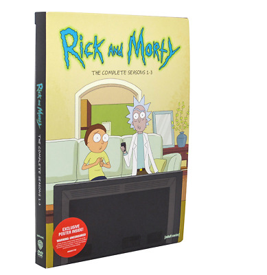 Rick and Morty: The Complete Series Seasons 1-3 (6-Disc DVD, Box Set) 1 2 3