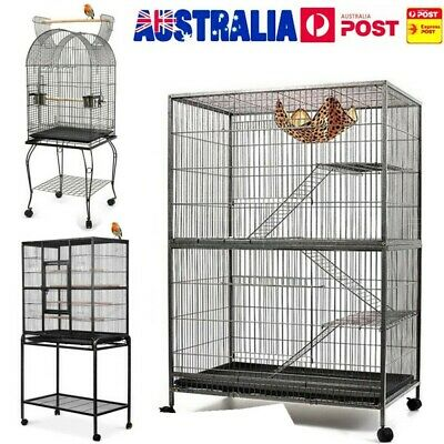 Bird Cage Pet Cages Aviary 140CM/150CM/160CM Large Travel Stand Parrot Toys AU
