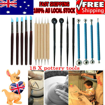 18X Sculpting Carving Pottery Tools Carvers Clay Polymer Modeling DIY Sculpture