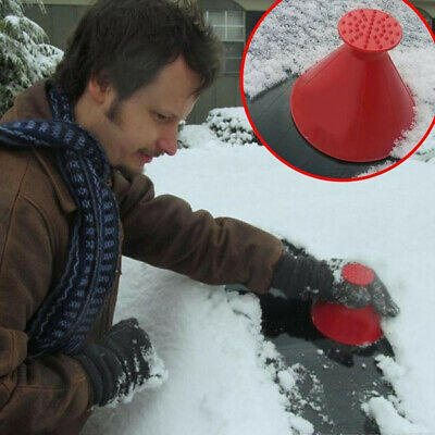 Magical UK Car Windshield Ice Snow Remover Scraper Tool Cone Shaped Round Funnel