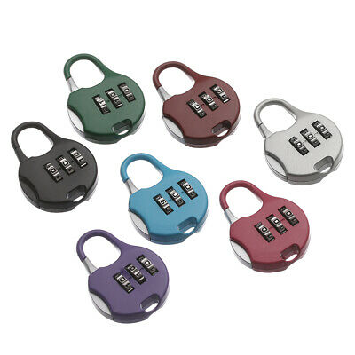 Gym Combination Code Luggage 3 Digit Dial Padlock Security Tool Password Lock
