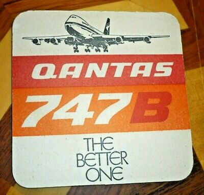 """Collectable coasters - QANTAS 747B """"The Better One'' beer coaster"""