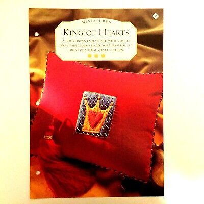 Needlework pattern: King of hearts embroidery design and instructions