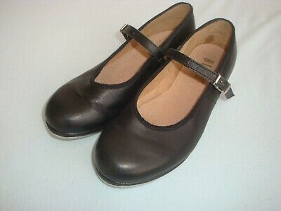 BLOCH Girls Black Leather Tap Shoes Size 13.5