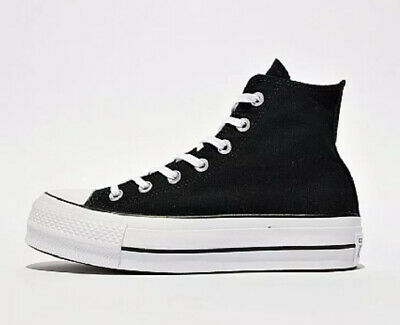 DSS* Converse Womens Chuck Taylor All Star Lift Hi Trainer | Black / White Uk 5