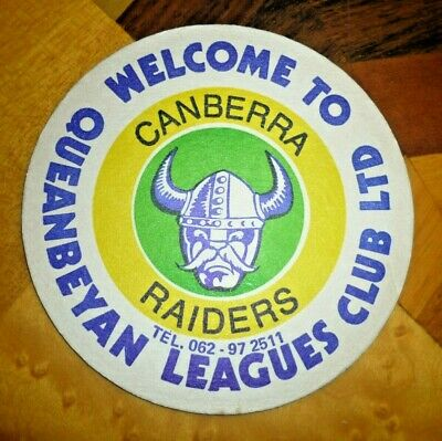 Collectable coasters -  Canberra Raiders (Queanbeyan Leagues Club) coaster