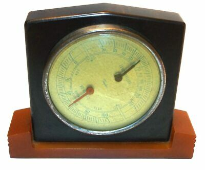 Vintage Art Deco Taylor Barometer / Thermometer with Bakelite Stand