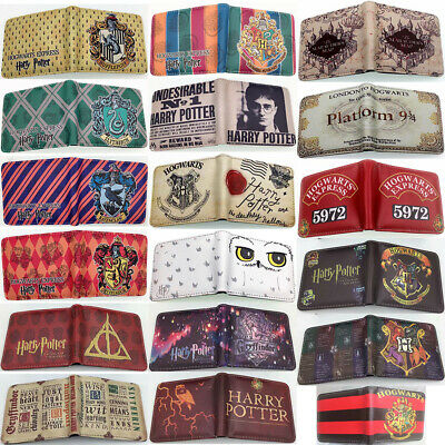 Harry potter PU Wallet Short Bi-fold Zipper Card Holder Purse boys girls gift