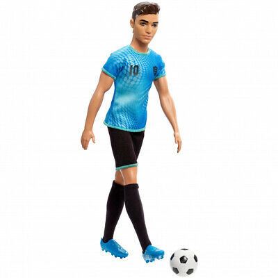 Barbie Footballer/Soccer Ken Doll in Career-Themed Outfit with Ball