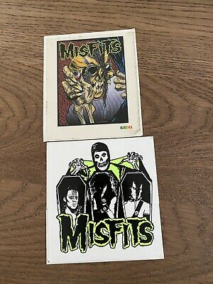 MISFITS Sticker Pushead Eye Ball Vintage 1980s Image Brand & Neon Green Evilive