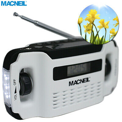 Macneil Wind-Up Solar Portable Radio with built-in LED Torch - Eco Friendly NEW