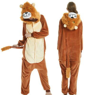 Animal Lion Adult Kigurumi Cosplay Costume Pyjamas Pajamas Sleepwear Jumpsuit AU