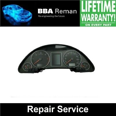 Audi A4 Instrument Cluster **Repair Service with Lifetime Warranty!**