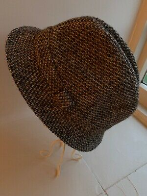 Hand Woven Harris Tweed Mens Trilby Made In Scotland Size M