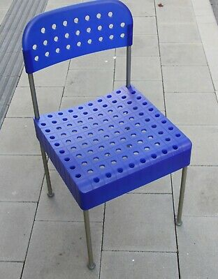 Enzo Mari BOX Stuhl Aleph Atlantide 70s Design chair blau