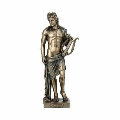 Apollo God Statue in Greek Roman Ancient Mythology Bronze Sculpture 9.85""