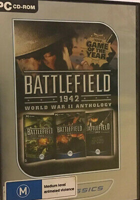 Battlefield 1942: The WWII Anthology 4 disks PC DVD ROM In VGC, Parcel Post