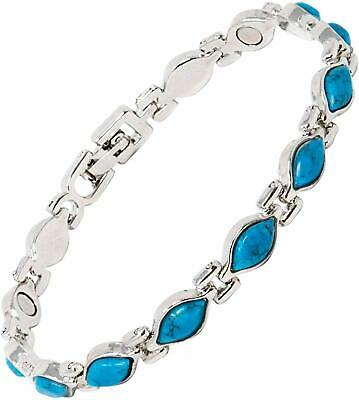 Helena Rose Jewellery Magnetic Therapy Bracelet for Women with Turquoise Blue