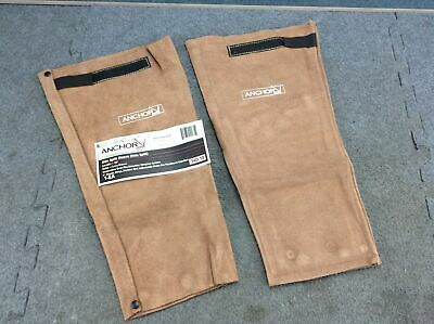 (1 pair) Anchor 340-18 Side Split Leather 18 Inch Lava Brown Welding Sleeves New
