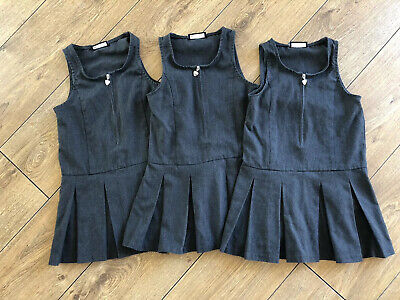 3 X Next Girls Grey School Uniform Pinafore Dress Bundle Age: 4 Years