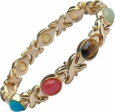 Magnetic Therapy Health Bracelet for Women with Natural Semi-Precious Stones