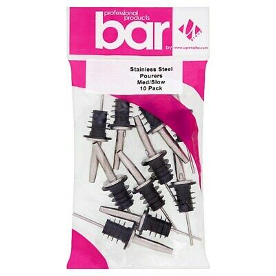 U Group Bar Professional Stainless Steel Pourers 10 Pack