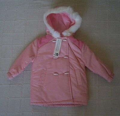 Vintage Girls Hooded Coat - Age 18 months - Pink - New