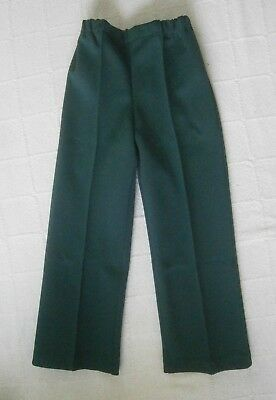 Vintage Jersey Trousers - Age 5 -110 cm - Bottle- Elastic Waist -Polyester -New