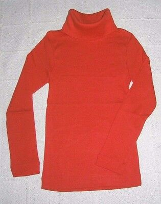 Vintage Stretch Polo-Neck Top - Age 14 - Cherry Red  - 100% Cotton - New
