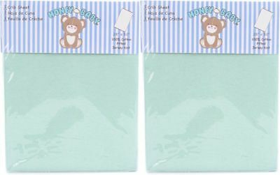 Honey Baby Solid Green Toddler Bed or Crib Sheets 2-Pack (100% Cotton)