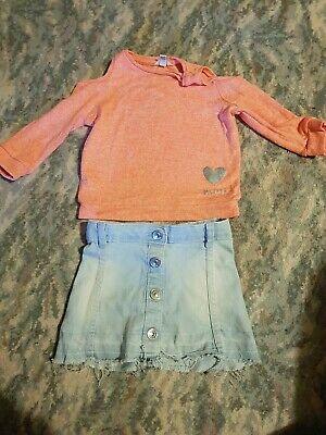 Baby Girls River Island Outfit. 12-18 Months