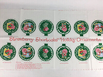 Vtg Strawberry Shortcake Spring Mills Material Pattern Ornaments For Sewing