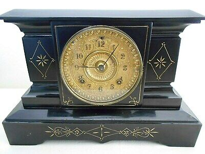 ANTIQUE ANSONIA CAST IRON MANTEL CLOCK. for RESTORATION