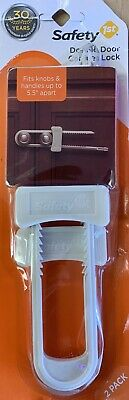 Brand New Safety 1 ST (2 Additional Double Door Slide Lock Easy To Use