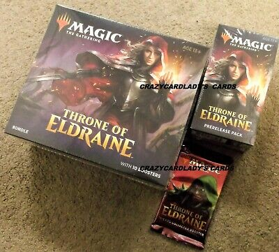 Magic Throne Of Eldraine Bundle Prerelease Kit & Collector's Pack Same Day Ship