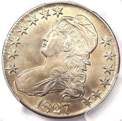 1827 Capped Bust Half Dollar 50C Coin - PCGS Uncirculated Details (BU MS UNC)!