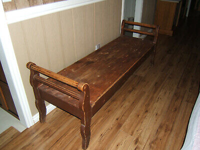 Bench Antique Mennonite Rue Bunk (Quiet Bench) One Of A Kind