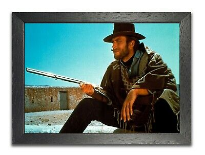 Clint Eastwood #1 American Actor Poster Gun Photo Handsome Man Picture Print