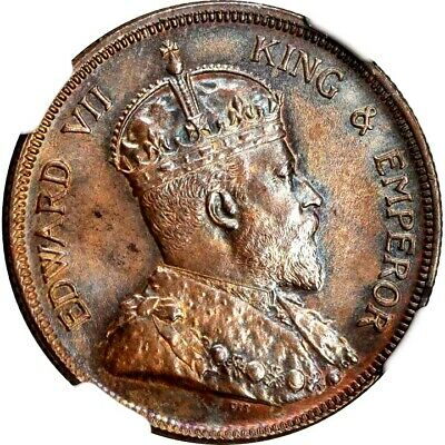 1903 Straits Settlements 1 Cent, NGC MS 63, KM 19, Well Struck, Malaysia