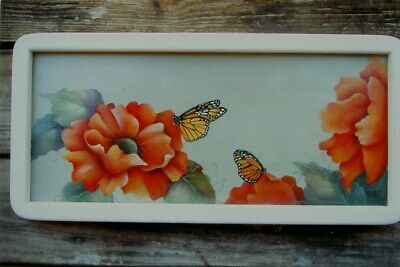 "Margaret Gay tole painting pattern ""Orange Poppies & Monarchs"""