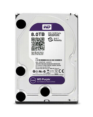 "Western Digital Purple 8TB Internal 5400RPM 3.5"" OEM HDD(WD80PURX)"