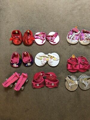 Various Build A Bear  ShoesPICK ONE PAIR  Sandal Pink White Bling