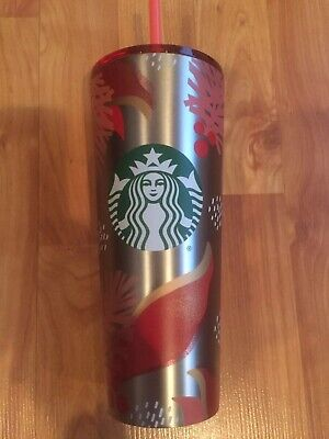Starbucks Holiday Christmas 2019 Venti Tumbler Cold Cup-Pink Holly NEW RARE