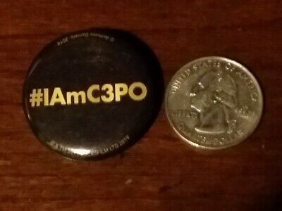 I AM C3PO Anthony Daniels Autobiography Promotional Pin Pinback Star Wars!