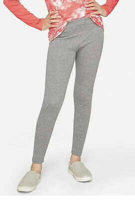 Nwt Girls Justice Fleece Lined Warm Leggings Heather Gray Size 8 Full Length